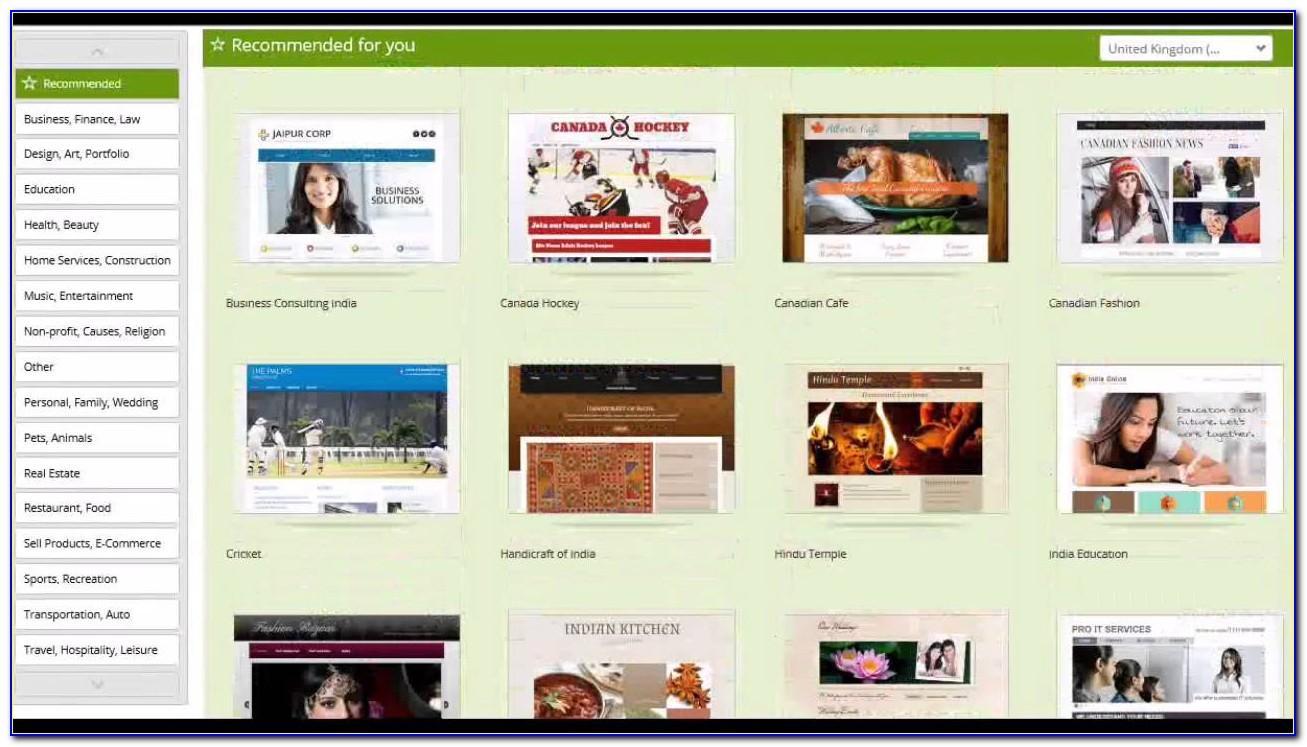 Godaddy Business Website Builder Templates
