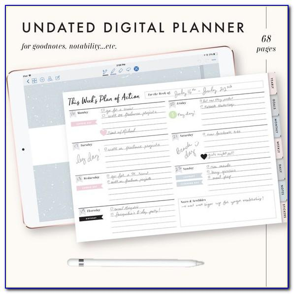Goodnotes Weekly Planner Template