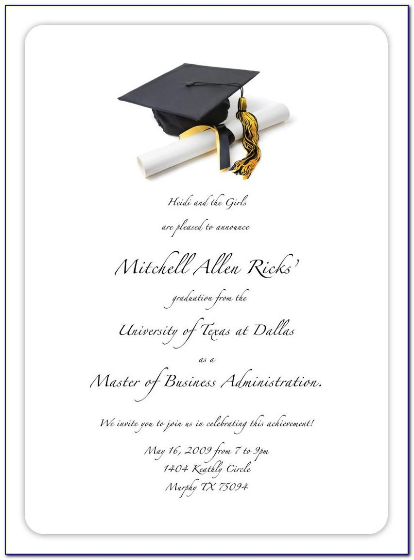 Graduation Invitation Free Template 2018