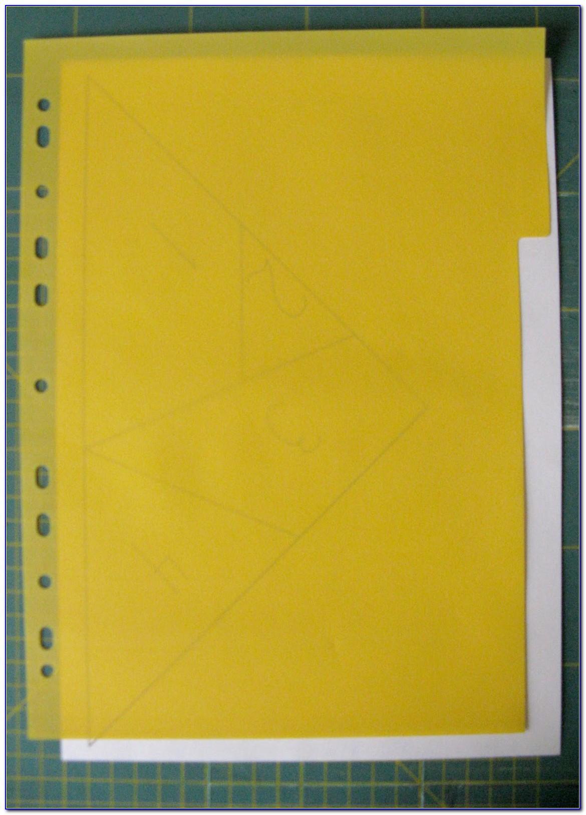 Hanging Folder Tab Template Excel