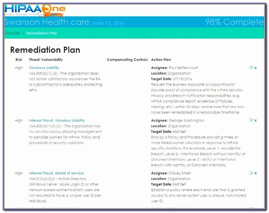 Hipaa Breach Risk Assessment Template