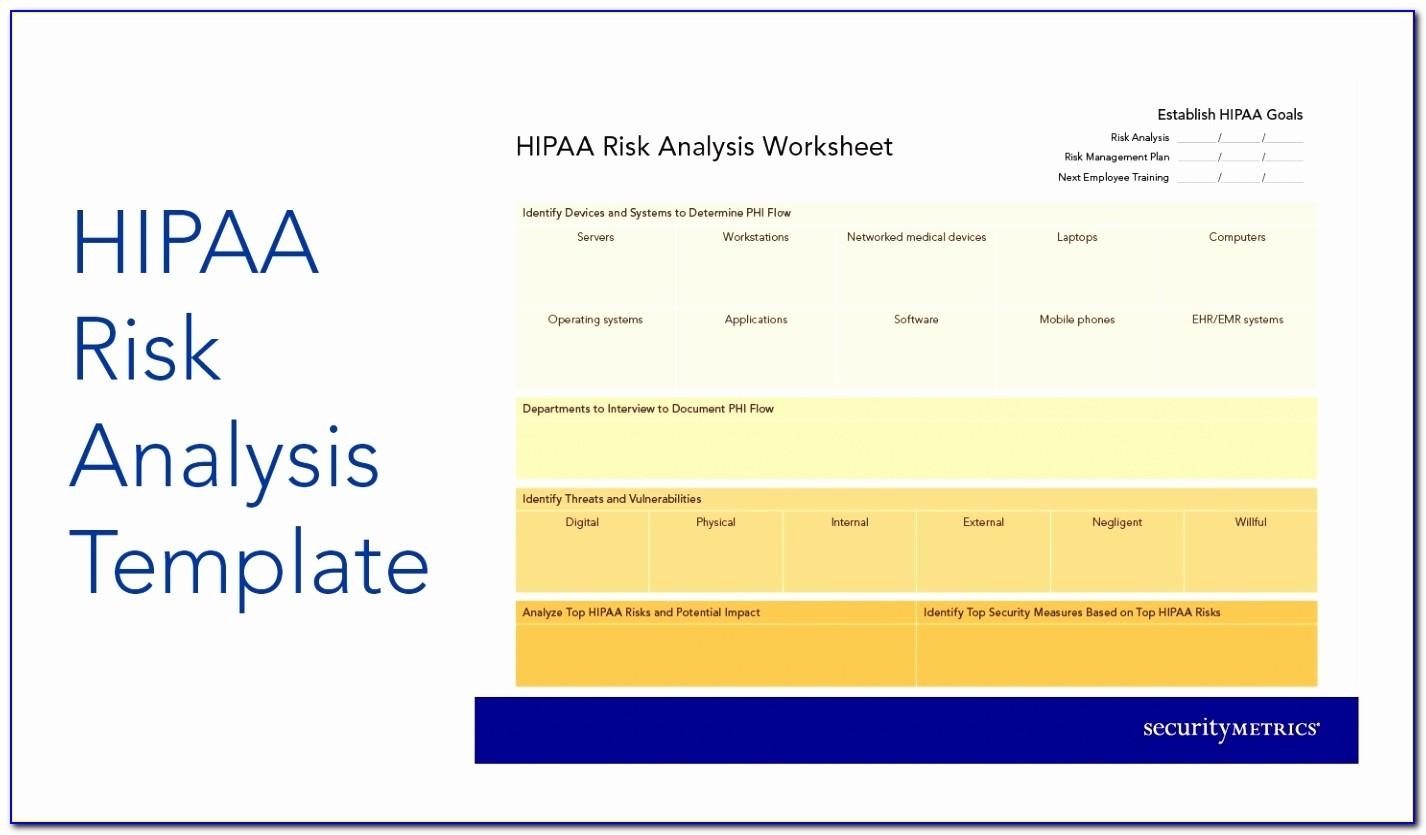 Hipaa Security Risk Assessment Template