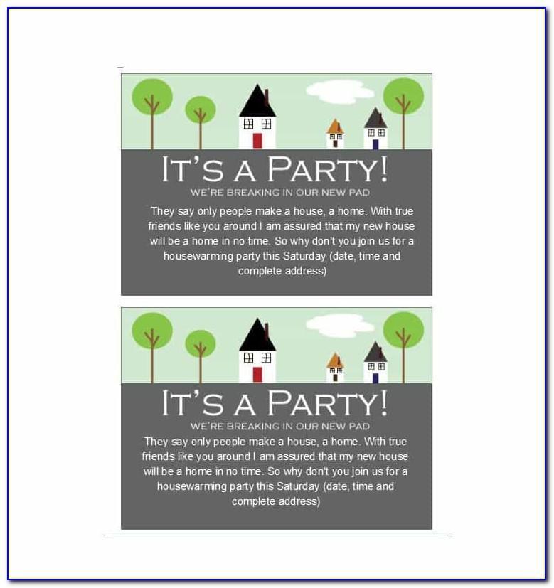 Housewarming Party Invitation Layout