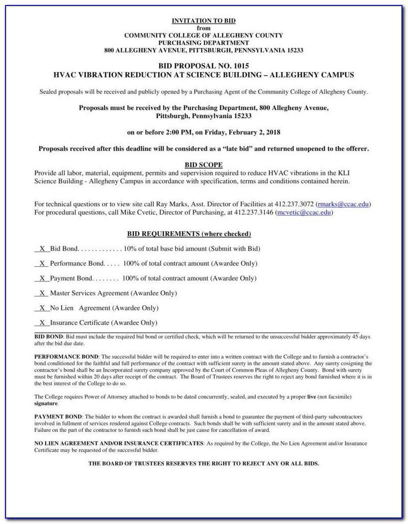 Hvac Proposal Template Pdf