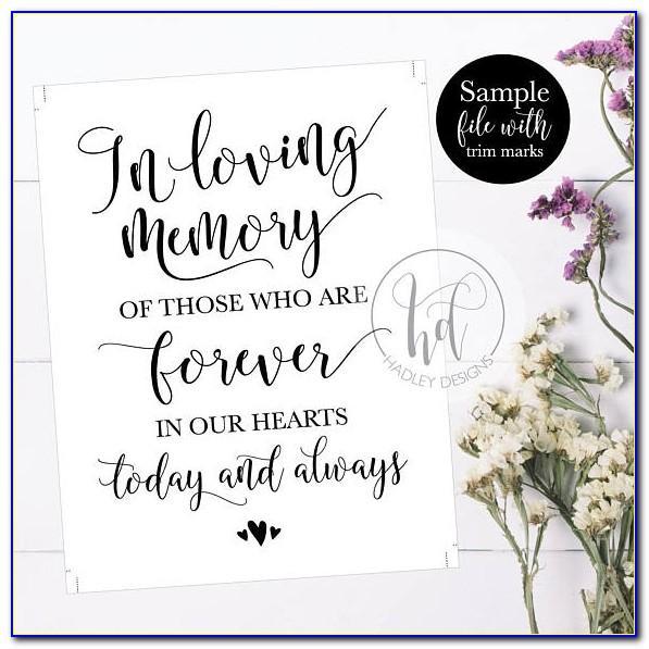 In Loving Memory Template Free Online