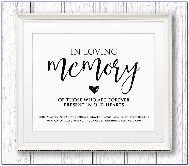 In Loving Memory Template Free
