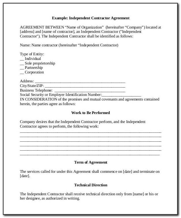 Independent Consultant Contract Template India