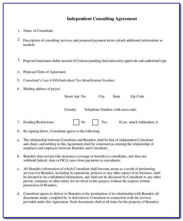 Independent Consulting Agreement Template
