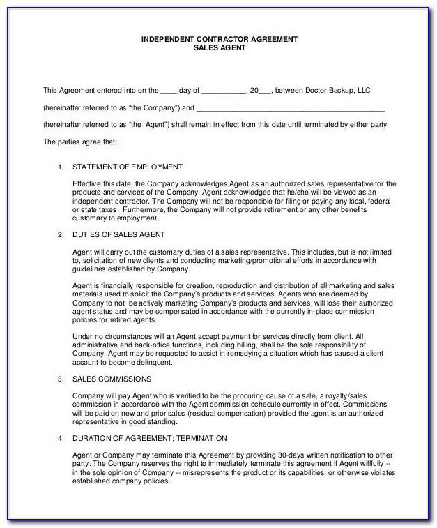 Independent Contractor Consulting Agreement Template