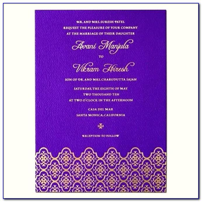 Indian Wedding Invitation Templates Editable
