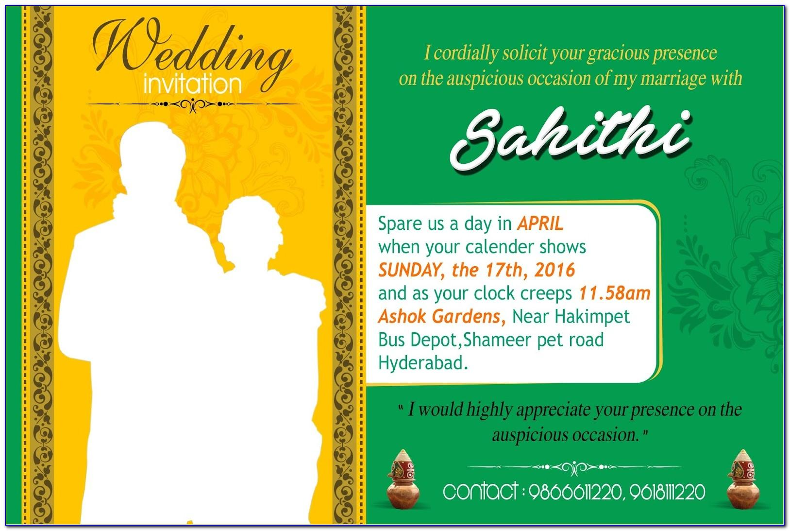 Indian Wedding Invitation Templates Photoshop