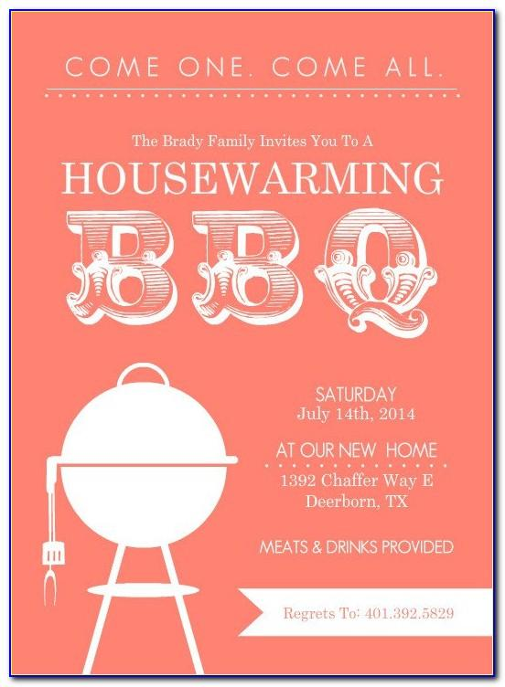 Invitation Format For Housewarming Party