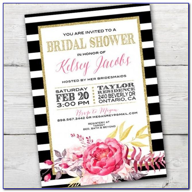 Kate Spade Bridal Shower Invitation Template