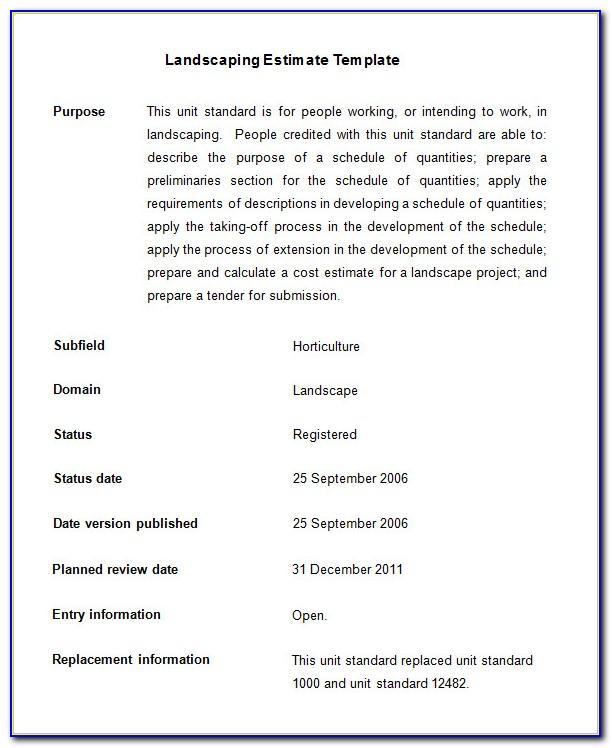 Landscape Proposal Template Free