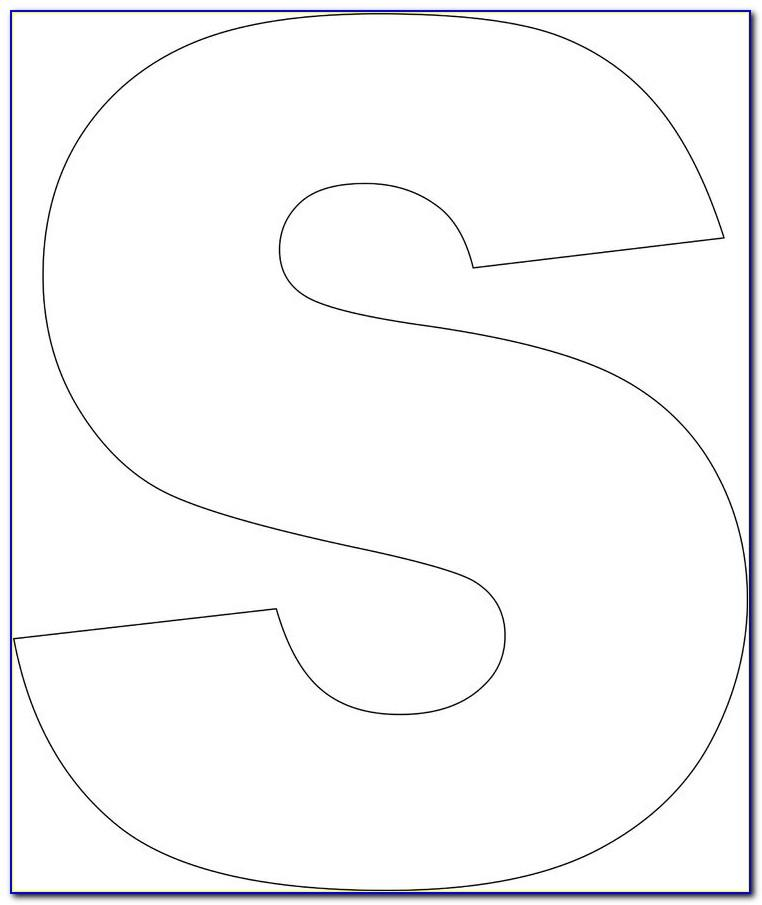 Large Alphabet Templates To Cut Out