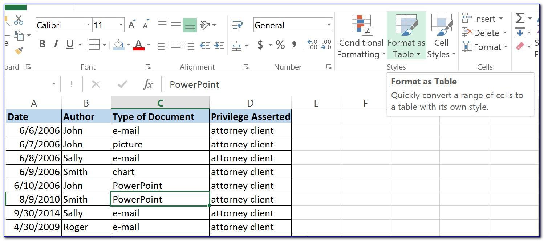 Legal Case Management Excel Template