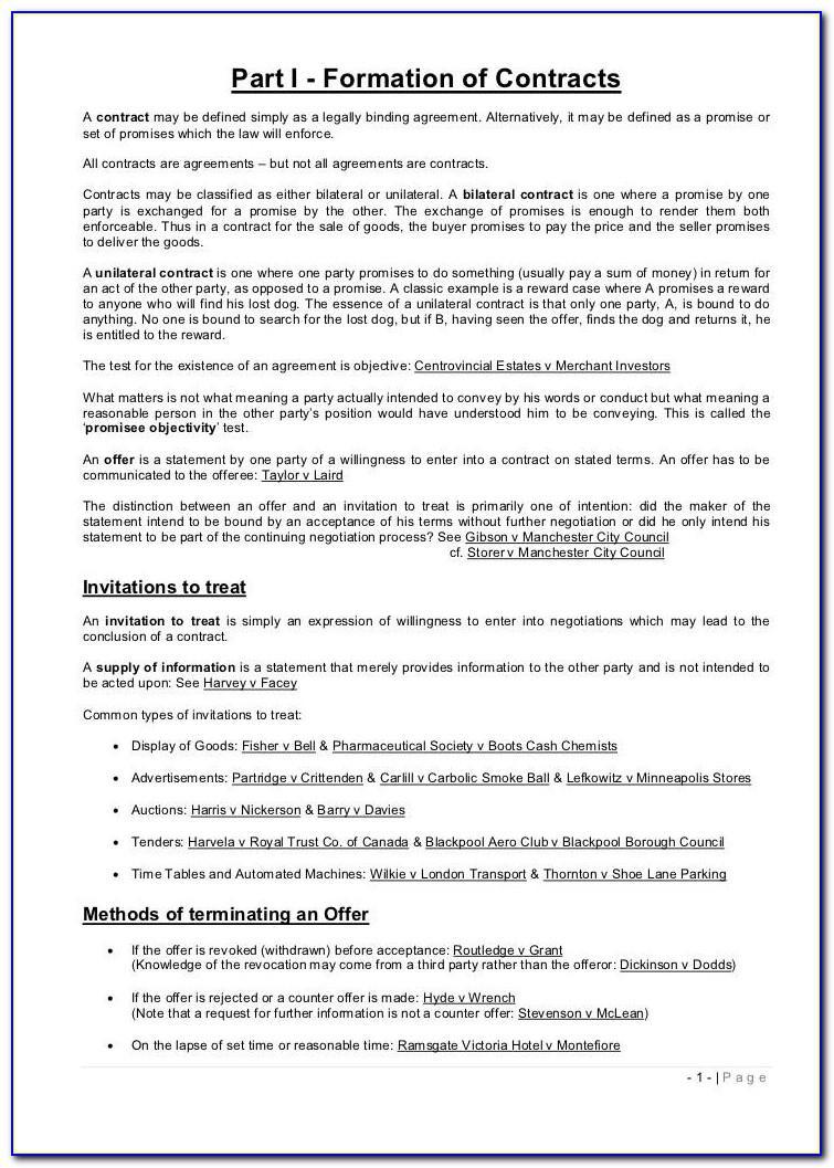 Legally Binding Agreement Template Australia