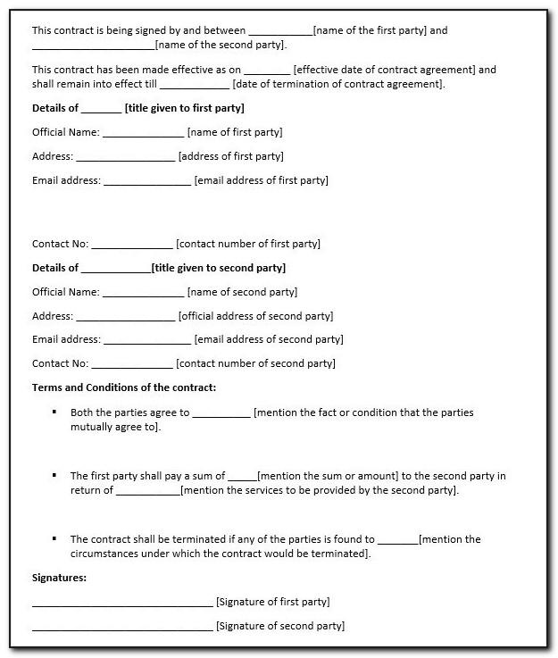 Legally Binding Agreement Template Pdf