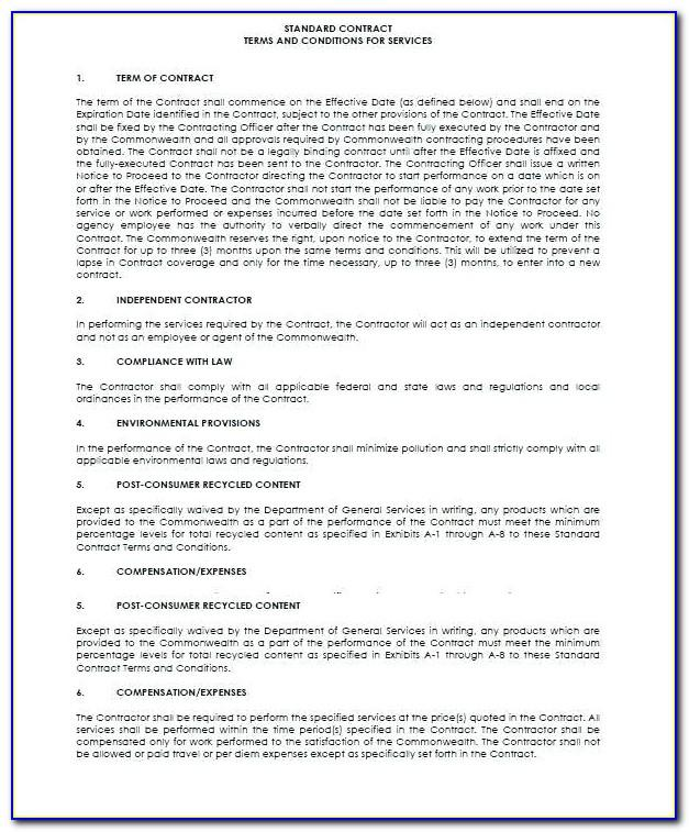 Legally Binding Contract Template Free