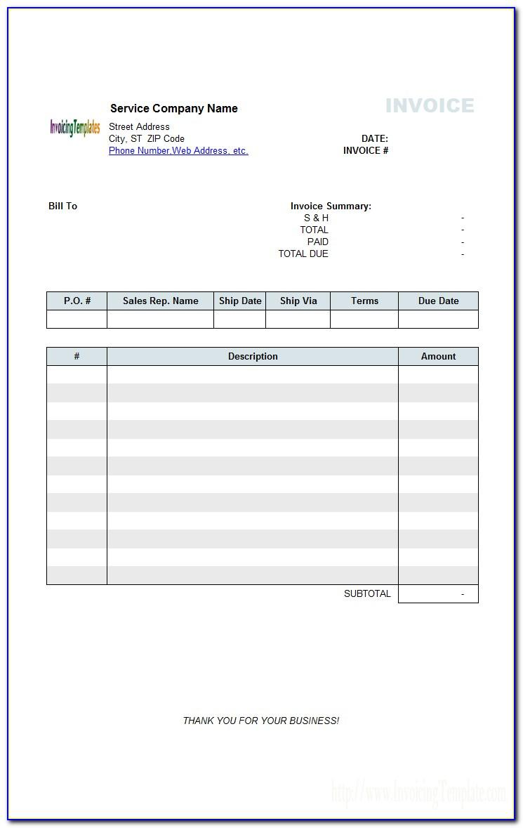 Medical Invoice Template Doc