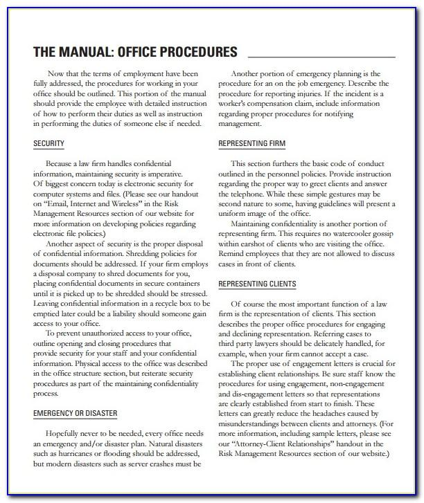 Medical Office Procedure Manual Template