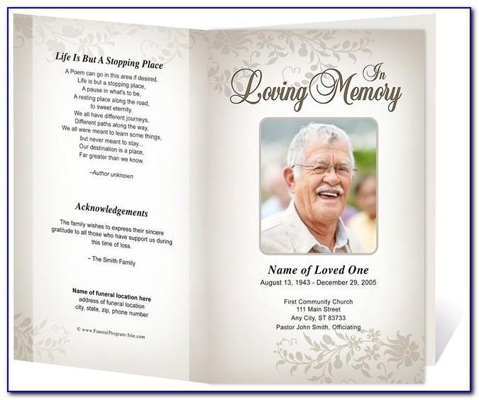 Memorial Cards Template Downloads