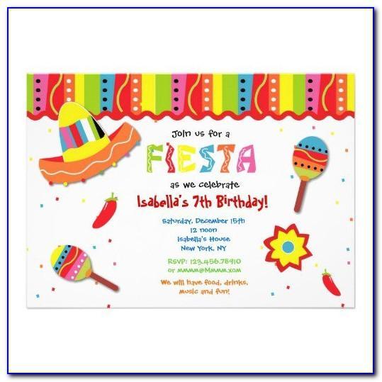 Mexican Fiesta Invitations Templates Free