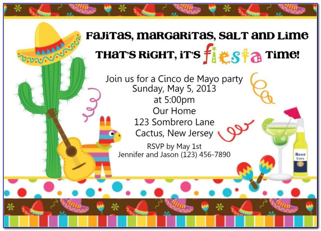 Mexican Party Invitation Template Free