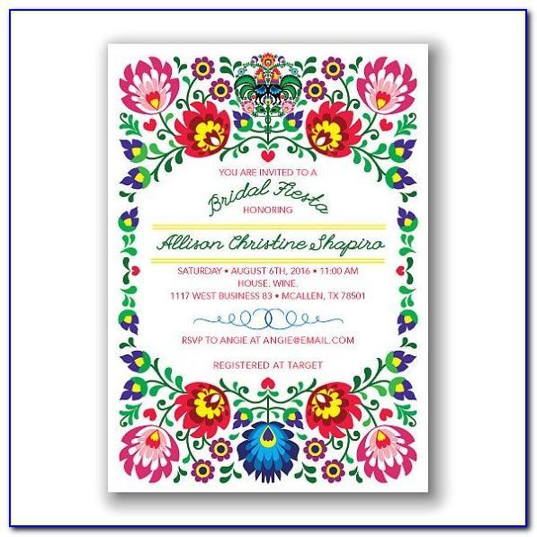 Mexican Wedding Invitations Free Templates