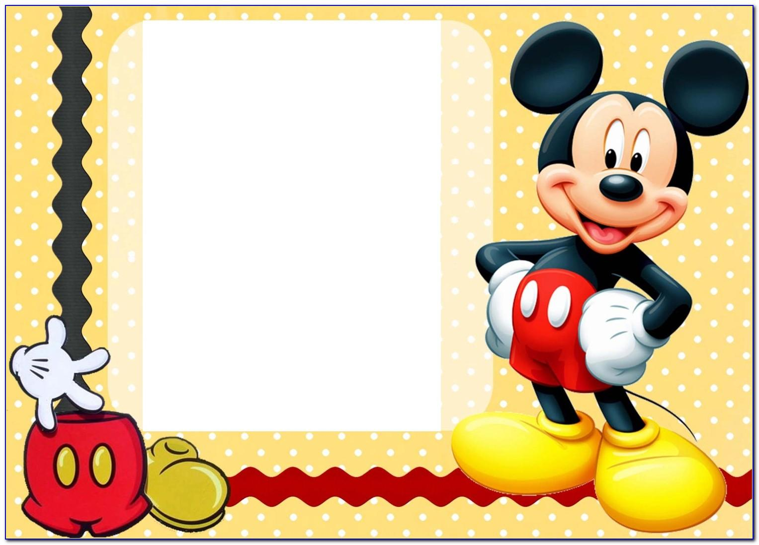 Mickey Mouse Clubhouse Invitations Template Free