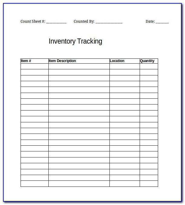 Microsoft Excel Inventory Tracking Template