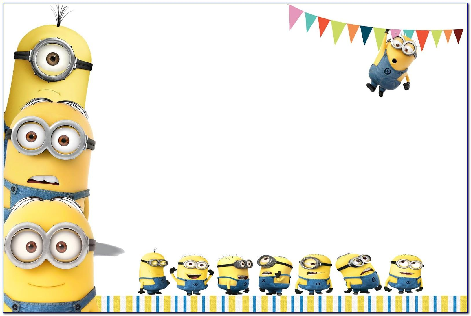 Minion Invitation Template Free