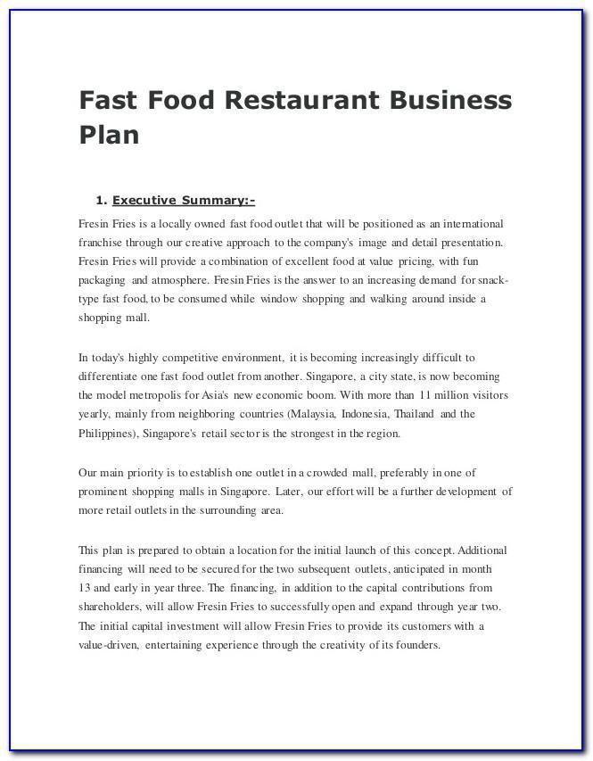 Mobile Food Truck Business Plan Samples