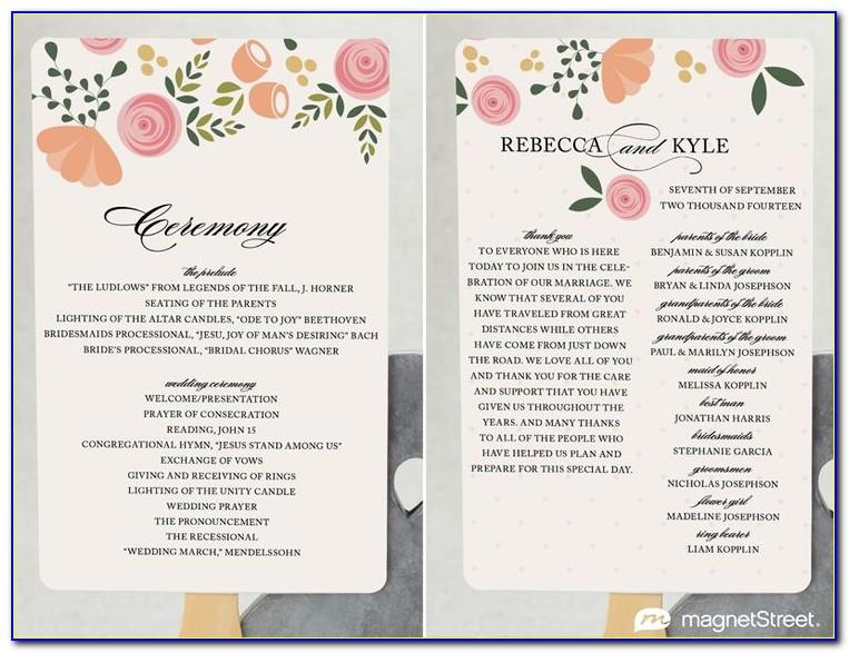 Modern Wedding Program Templates Free