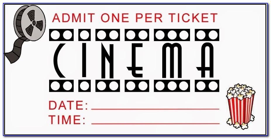 Movie Ticket Invitation Printable