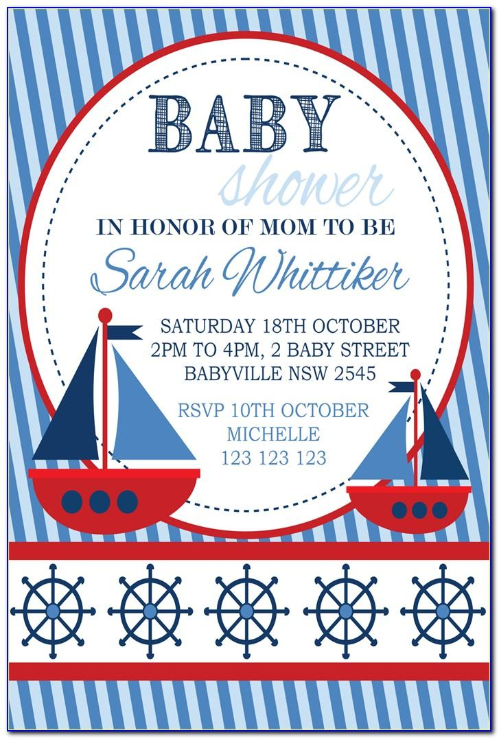 Nautical Baby Shower Invitations Templates Free