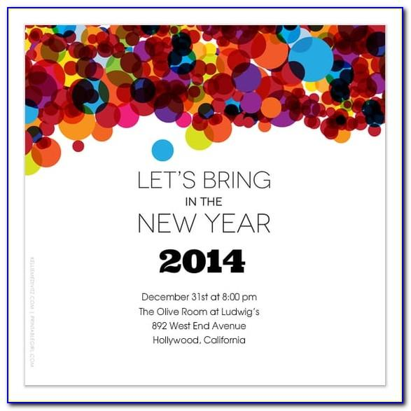 New Year Celebration Invitation Template