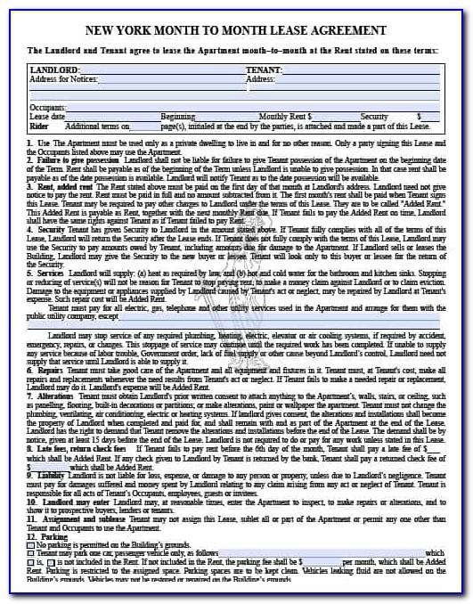 New York Residential Lease Agreement Form