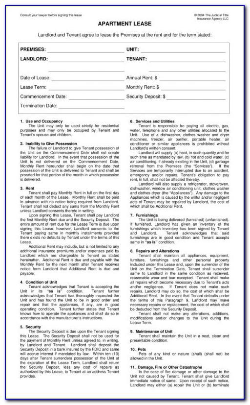 New York State Residential Lease Agreement Form