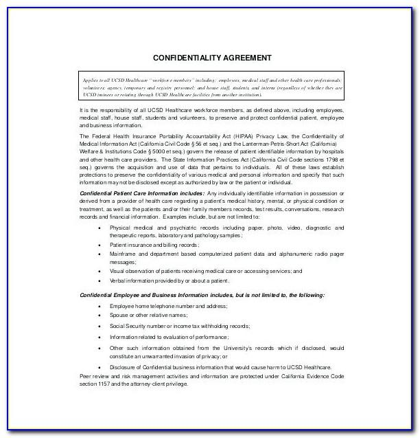 Non Disclosure Agreement Template Free Ireland
