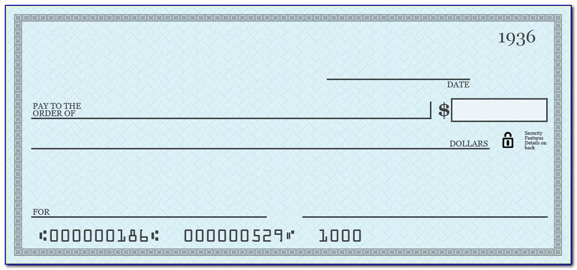 Oversized Check £ Template Free