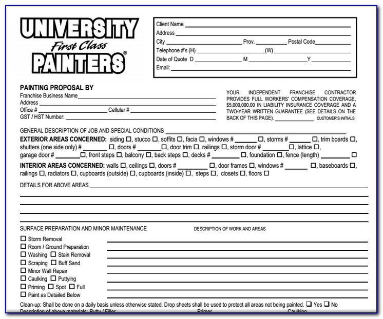 Painting Job Proposal Template