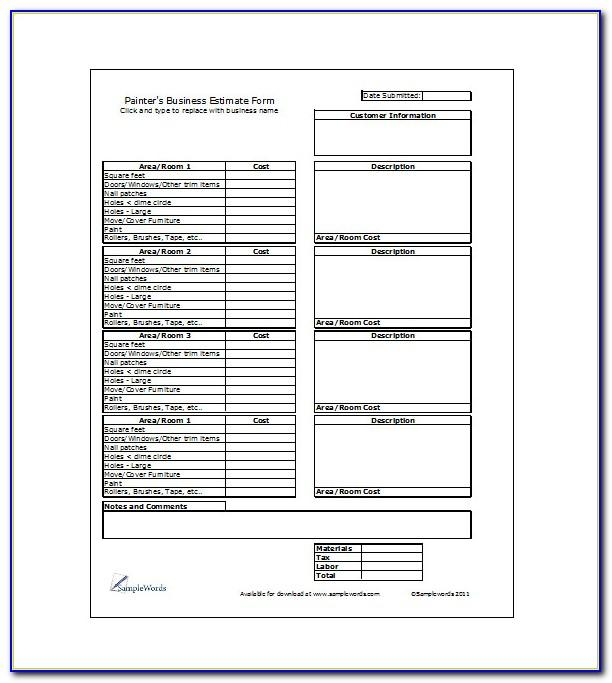 Painting Proposal Template Pdf