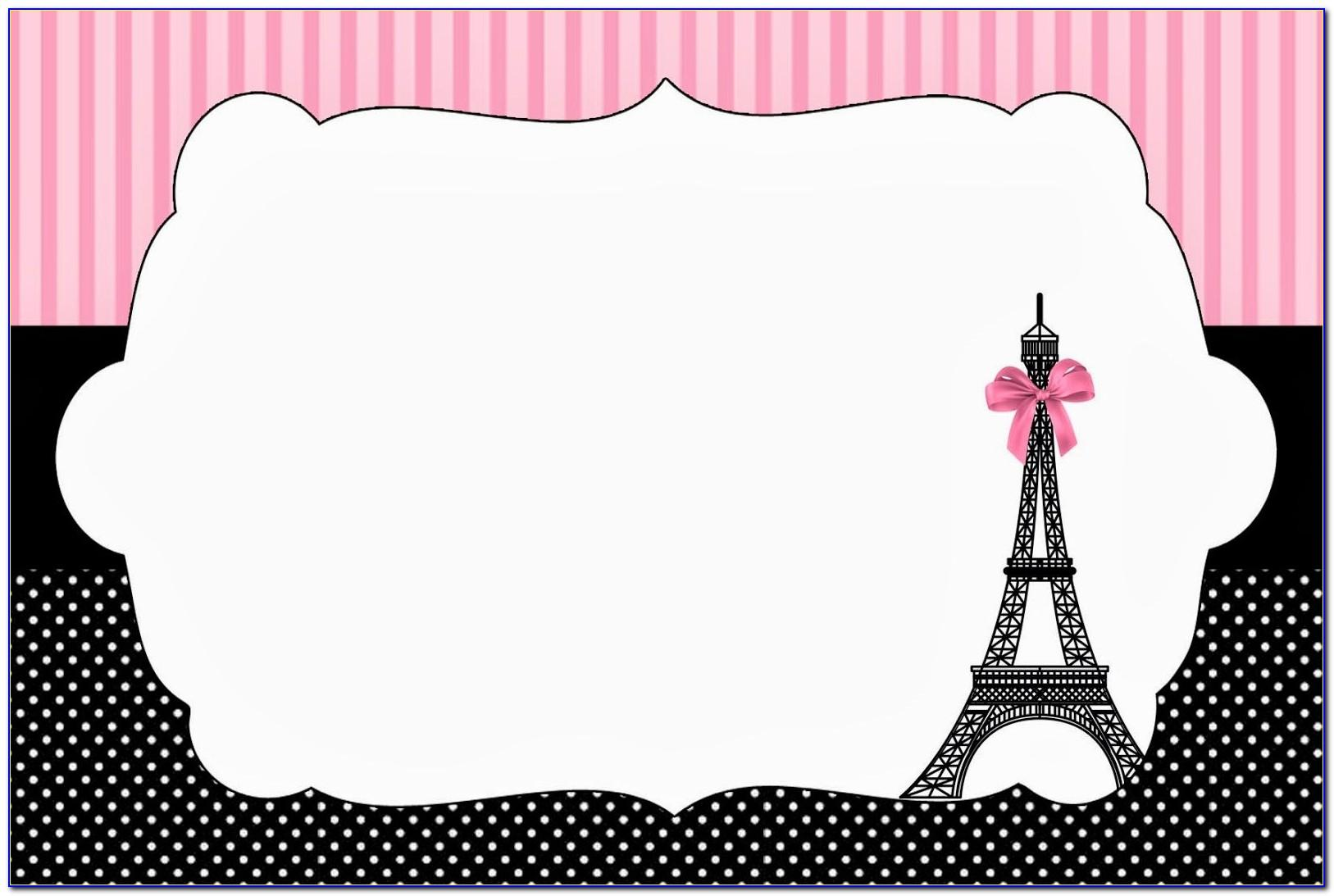 Paris Themed Invitations Free Template