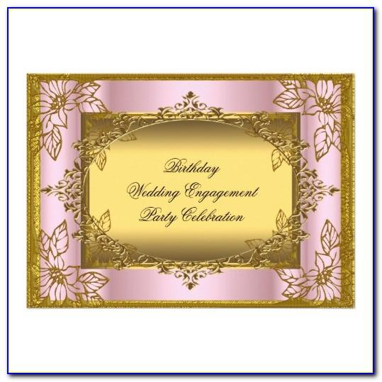 Pink And Gold 1st Birthday Invitation Templates