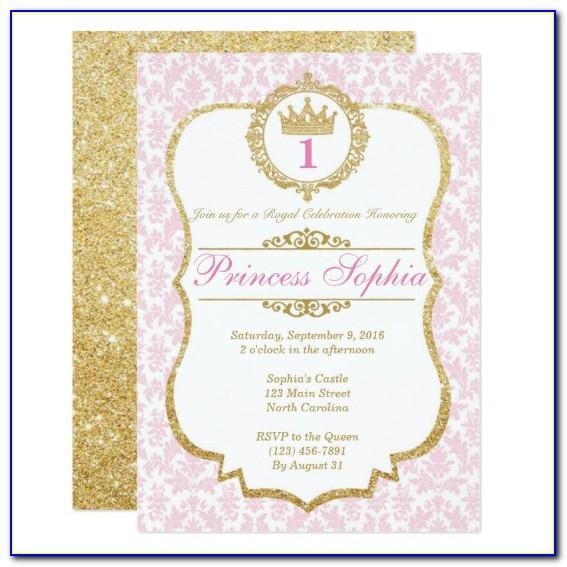 Pink And Gold Bridal Shower Invitation Templates
