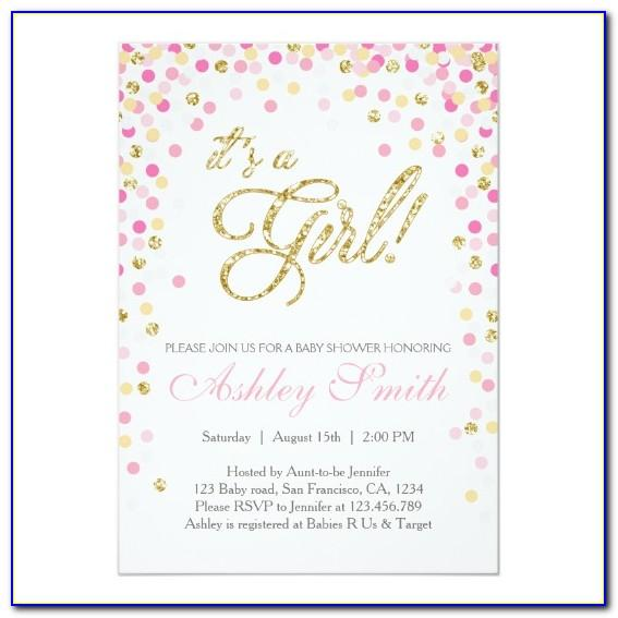 Pink And Gold Invitations Templates Free