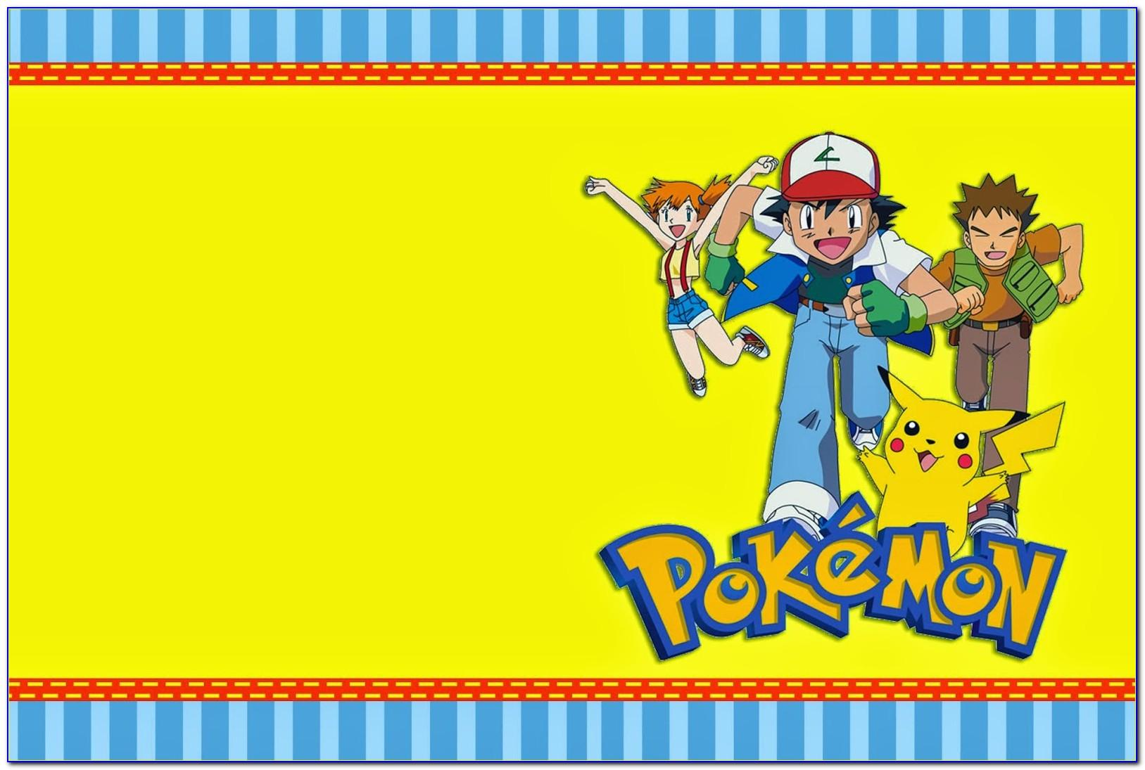 Pokemon Ball Invitation Template