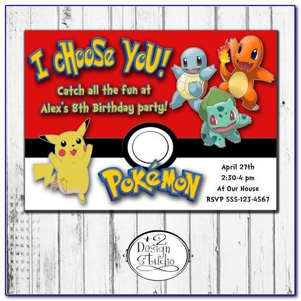 Pokemon Card Invitation Template Free