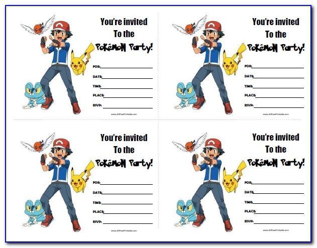 Pokemon Card Invitation Template